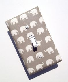 Gray Elephant Light Switch Plate / Baby Nursery by SSKDesigns, $10.00