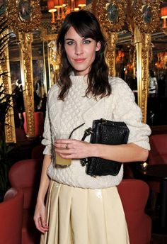Alexa Chung attends the AnOther Magazine and Dazed & Confused party with Belvedere Vodka at the Cafe Royal hotel on February 18, 2013 in London, England.