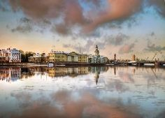 Rosja, Sankt Petersburg, Rzeka, Newa, Panorama, Miasta