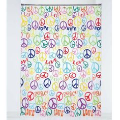 Charmant Add A Fun Accent To Your Bathroom With This Peace Sign Shower Curtain.