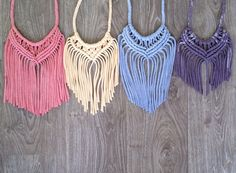 Handmade Macramé Statement Necklace  a bold and by kirrimaDe, $45.00