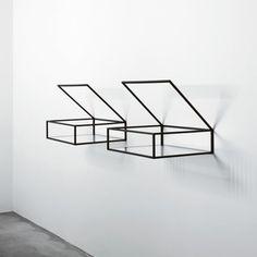 glass shelves designs ideas