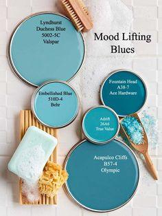 New bedroom blue walls colour palettes coastal colors 33 Ideas Best Blue Paint Colors, Blue Wall Colors, Paint Colors For Home, House Colors, Turquoise Paint Colors, Paint Colours, Apartment Color Schemes, Color Schemes Colour Palettes, Home Color Schemes