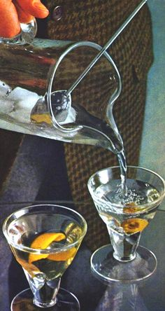"""pignoni: """"rogerwilkerson: """"Too early for Martinis? Vintage Cocktails, Classic Cocktails, Bar Set Up, Christmas Cocktails, Vintage Bar, Vintage Stuff, The Good Old Days, Snack, Mixed Drinks"""