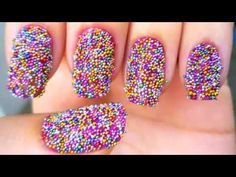"You can purchase this small bottle of ""sprinklies"" to do this Nail Art @ Rite-Aid.  I just saw it the other day here!"
