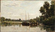 Las barcazas, 1865 - Charles-François Daubigny