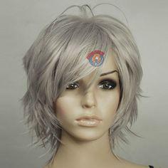 Silver Hair Gray Grey Shag - ExtraVital Fasion