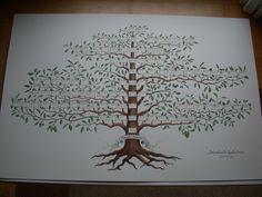 Family Tree Poster, Family Tree Art, Family Tree Drawing, Family Reunion Activities, Fingerprint Wedding, Family Tree Maker, Family Tree Designs, Personalised Family Tree, Family Roots