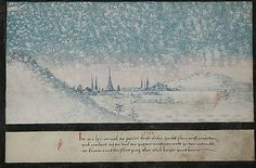 """1162 -- """"In the year A.D. 1162 snow fell twelve times in succession upon Milan, so that the people fell into despair and no one was able to go and see anyone else. And the snow covered some of the houses and trees etc."""" -- The Book of Miracles (f°44), ca 1552"""
