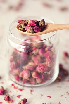 dried rose buds-for a wonderful cup of rose tea.