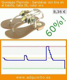 Gioseppo Florinda - Sandalias con tira en el tobillo, talla 36, color oro (Ropa). Baja 60%! Precio actual 8,36 €, el precio anterior fue de 20,90 €. https://www.adquisitio.es/gioseppo/florinda-sandalias-tira-14