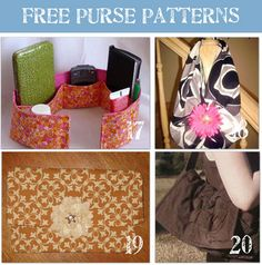 The purse patterns on this page were so cute. If I ever get a sewing machine I do think I will try a few.