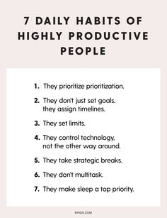 GIRLBOSS MOOD 7 things productive people always do productivity productivity tips productivity tools work from home productivity work from home time management time mana. Effective Time Management, Time Management Strategies, Time Management Skills, Time Management Quotes, Importance Of Time Management, Work Life Balance, Productive Things To Do, Being Productive, Entrepreneur