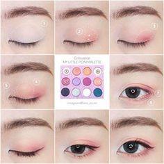 Axe Styling, Natural Look Softening Cream oz Pack) - Cute Makeup Guide Korean Makeup Tips, Korean Makeup Tutorials, Asian Eye Makeup, Makeup Trends, Makeup Inspo, Makeup Inspiration, Simple Makeup, Natural Makeup, Make Up Tutorial Contouring