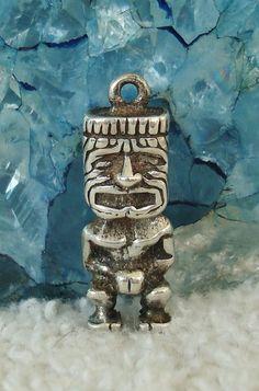 Tiki Statue Cufflinks Solid Bronze