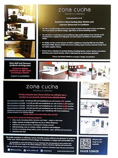 Zona Cucina - Berks leading #kitchen shop have just got their new #leaflets!! 35,000!! A5 leaflets! fab discounts!!
