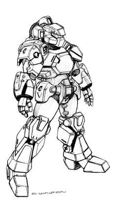 Robotech RPG CVR-2 Space Combat Armor by ChuckWalton  @DeviantArt