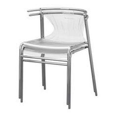 ELMER Chair - clear/chrome plated - IKEA