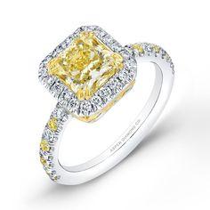 Classic Yellow engagement ring from #AspenDiamond. #yellow #stunning #love #jewelry #glam #engagement #forever #diamond