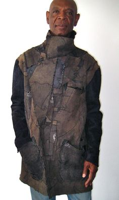 reworked persian karakul lamb, mens jacket, reversible, one of a kind.