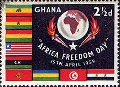 Image result for ghana stamps africa freedom day