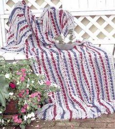 Berry Garland Afghan Crochet Pattern