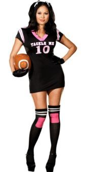 looks comfy sexy plus size football costume for women party city - Halloween Costume Football