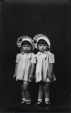 Creepy Twins - Photography by Mike Disfarmer -  #BlackAndWhite #siblings #twins
