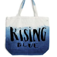 Some more brush lettering for @risingbluejewelry ! It's so fun to see my #handlettering on another tote!