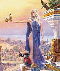 Beautiful Fantasy Art, Dark Fantasy Art, Fantasy Rpg, Fantasy Artwork, Game Of Thrones Artwork, Game Of Thrones Books, Game Of Thrones Funny, A Dance With Dragons, Mother Of Dragons