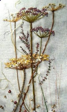 Wonderful Ribbon Embroidery Flowers by Hand Ideas. Enchanting Ribbon Embroidery Flowers by Hand Ideas. Embroidery Designs, Hand Embroidery Stitches, Silk Ribbon Embroidery, Crewel Embroidery, Cross Stitch Embroidery, Flower Embroidery, Vintage Embroidery, Machine Embroidery, Embroidered Flowers