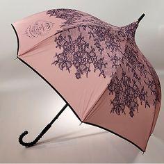 Parapluie vieux rose et noir