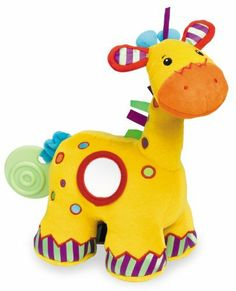 Tolo Jingle The Giraffe by TOLO. Save 18 Off!. $20.58. Multi-colored soft toy. Vibrating tail. Built-in rattle. Textured fabrics. Small mirror on side. From the Manufacturer                This multi-colored soft toy from Tolo Toys is instantly appealing to babies and young children, and has an inbuilt rattle, vibrating tail, a small mirror and a variety of textured fabrics to keep little hands occupied.                                    Product Description                Cute and cuddl...