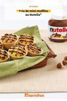 On craque pour ces mini-muffins aussi mignons que bons pour un goûter au soleil ! #recettemarmiton #marmiton #cuisine #recette #patisserie #muffins #gateau #moelleux #nutella #chocolat #gouter #été Mini Muffins, Muffin Nutella, Snack Recipes, Snacks, Cereal, Chips, Breakfast, Cake, Organize