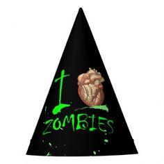 Halloween undead  Apocalypse I love zombie party Party Hat - accessories accessory gift idea stylish unique custom