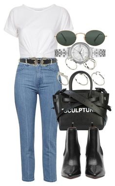 """Untitled #5109"" by olivia-mr ❤ liked on Polyvore featuring Ray-Ban, Topshop, Michael Kors, ASOS and Off-White"