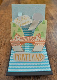 Pop-up card by Manvsink on etsy