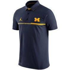 Brand Jordan Michigan Wolverines Navy 2016 Elite Coaches Sideline Performance Polo - FansEdge.com