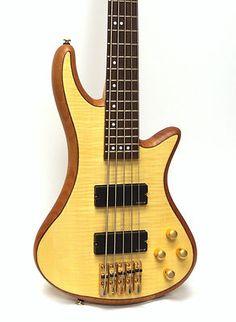 Schecter Guitar Research Stiletto Custom 5 Electric Bass Guitar Natural Satin