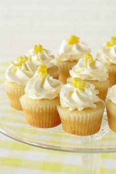 Lemon Cupcakes. Bite-sized lemon cupcakes topped with lemon zest beg to be eaten.