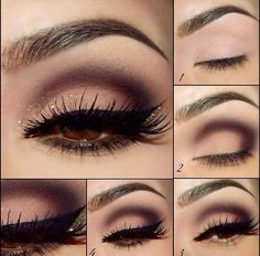 Eye Makeup - how to apply eyeshadow step by step for brown eyes - Google Search - Health & Beauty, Makeup, Eyes