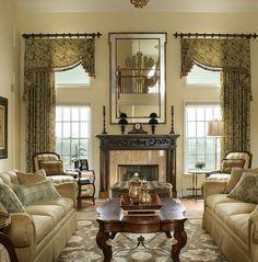Living Room Window Treatment Ideas   ... Draperies, Draperies for Tall Windows, Arched Window Treatments by klimadesigngroup.net