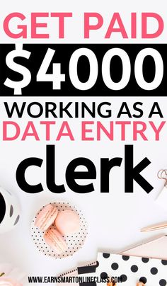 10 Best Data Entry Jobs From Home Want to make money from home as a data entry clerk? Here are 10 best data entry jobs from home to get you started! You get to work from home whenever you want and earn however much money you want especially with Fiverr! Easy Online Jobs, Online Jobs From Home, Home Jobs, Jobs Uk, Earn Money From Home, Make Money Fast, Earn Money Online, Making Money From Home, Work From Home Companies
