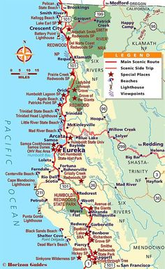 Northern California Vacation Travel Guide – hotels, maps, photos .....This is an awesome trip !!