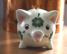 Goebel Hummel Shamrock Piggy Bank by DelectablyVintage on Etsy