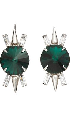 Fallon Crystal Spike Drop Earrings
