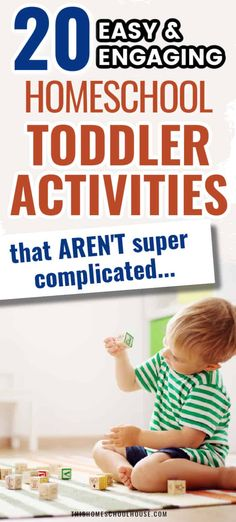 20 easy and engaging homeschool toddler activities to do at home. Have fun with these easy toddler activity ideas. They'll entertain your toddler while you're homeschooling. #homeschooltips #momtips Sensory Activities Toddlers, Summer Activities For Kids, Educational Activities, Play Based Learning, Tot School, Teaching Kids, Activity Ideas, Homeschooling, Preschool