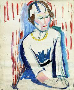Helene von Taussig (Austrian, 1879-1942), Lady with Yellow Necklace, 1920–30, oil on canvas