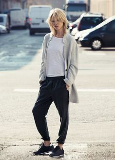 Tencel baggy trousers