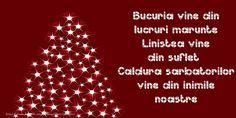 Bucuria vine din lucruri marunte. Linistea vine din suflet... Caldura sarbatorilor vine din inimile noastre Christmas Tree, Holiday Decor, Image, Thoughts, Facebook, Psicologia, Wine, Teal Christmas Tree, Xmas Trees